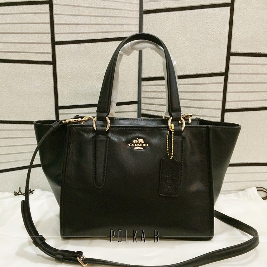 Coach Mini Carryall Crossbody In Smooth Leather Black