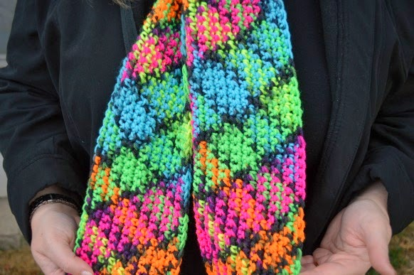Crochet Patterns Light Weight Yarn : Crochet Dynamite: Red Heart Super Saver Blacklight - Argyle