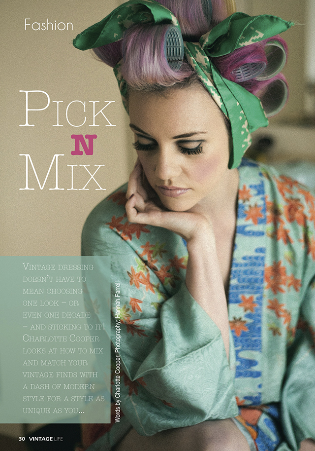 Vintage Life Magazine's Pick N Mix article, September 2012