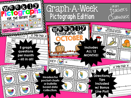 http://www.teacherspayteachers.com/Product/Graph-a-Week-Pictograph-Edition-1309304