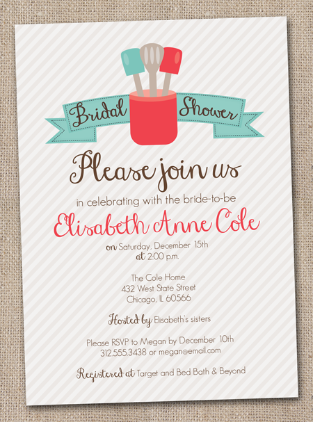 Ink obsession designs new kitchen inspired bridal shower invitations one last new design for 2012 kitchen shower bridal invites filmwisefo