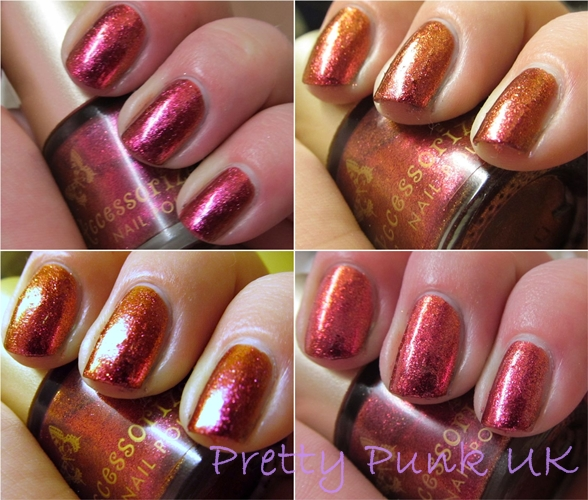 Pink Spice bright pink to amber to orange