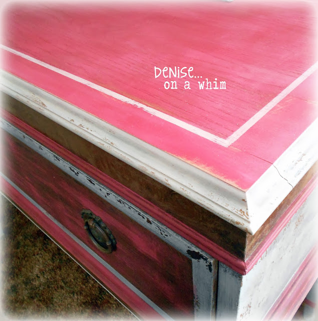 Chippy Milk Paint Makeover via http://deniseonawhim.blogspot.com
