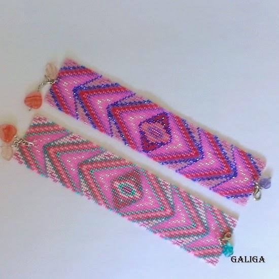 bracelet in pink shades-glamorous style seed bead bracelet