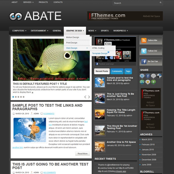 Abate WordPress Theme