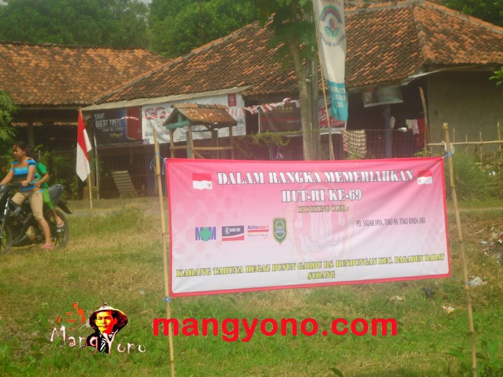 Pukul Bantal di Dusun Gardu ( REGAZ), Pagaden Barat, Subang. Acara HUT RI
