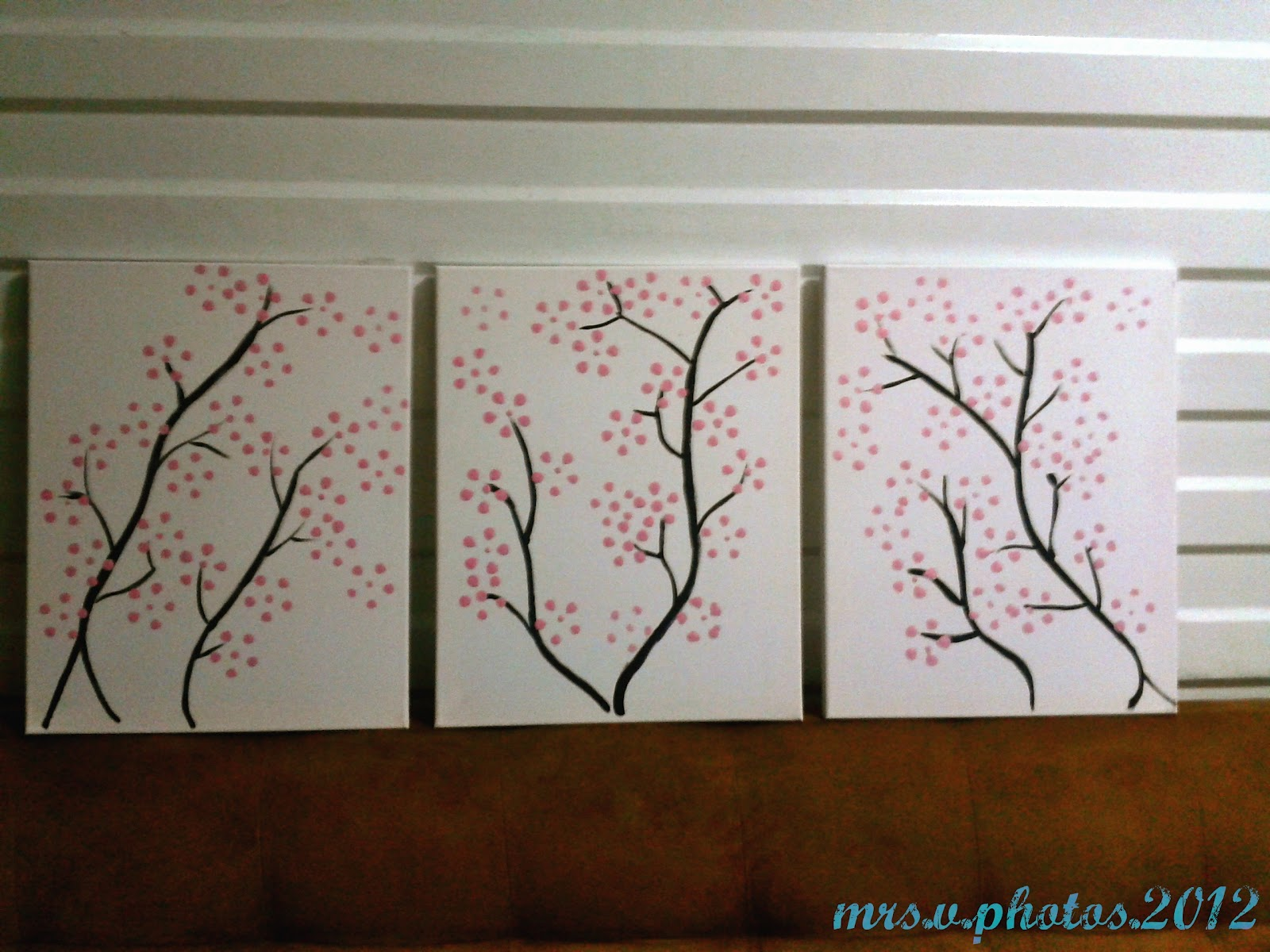 mr and mrs v issues solved cherry blossoms diy painting