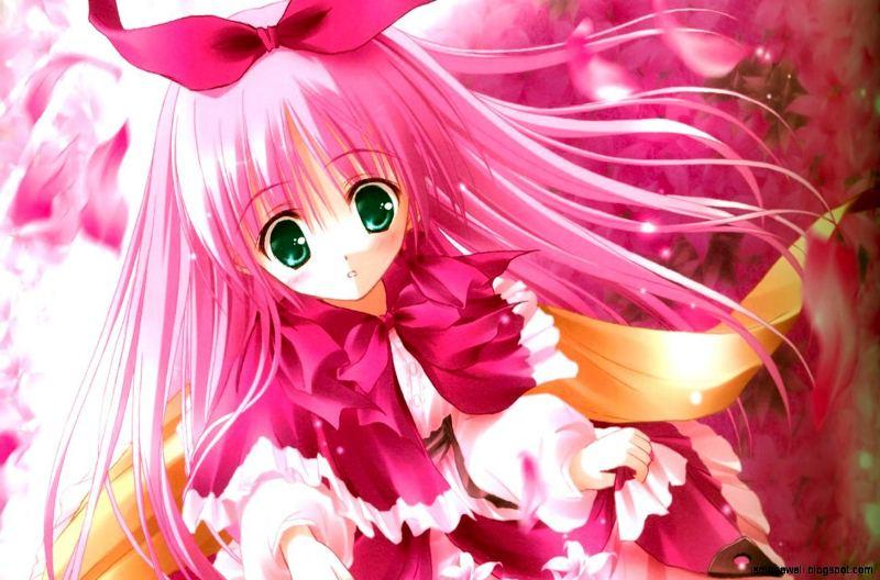 Kumpulan Gambar Wallpaper Anime Jepang Berambut Pink