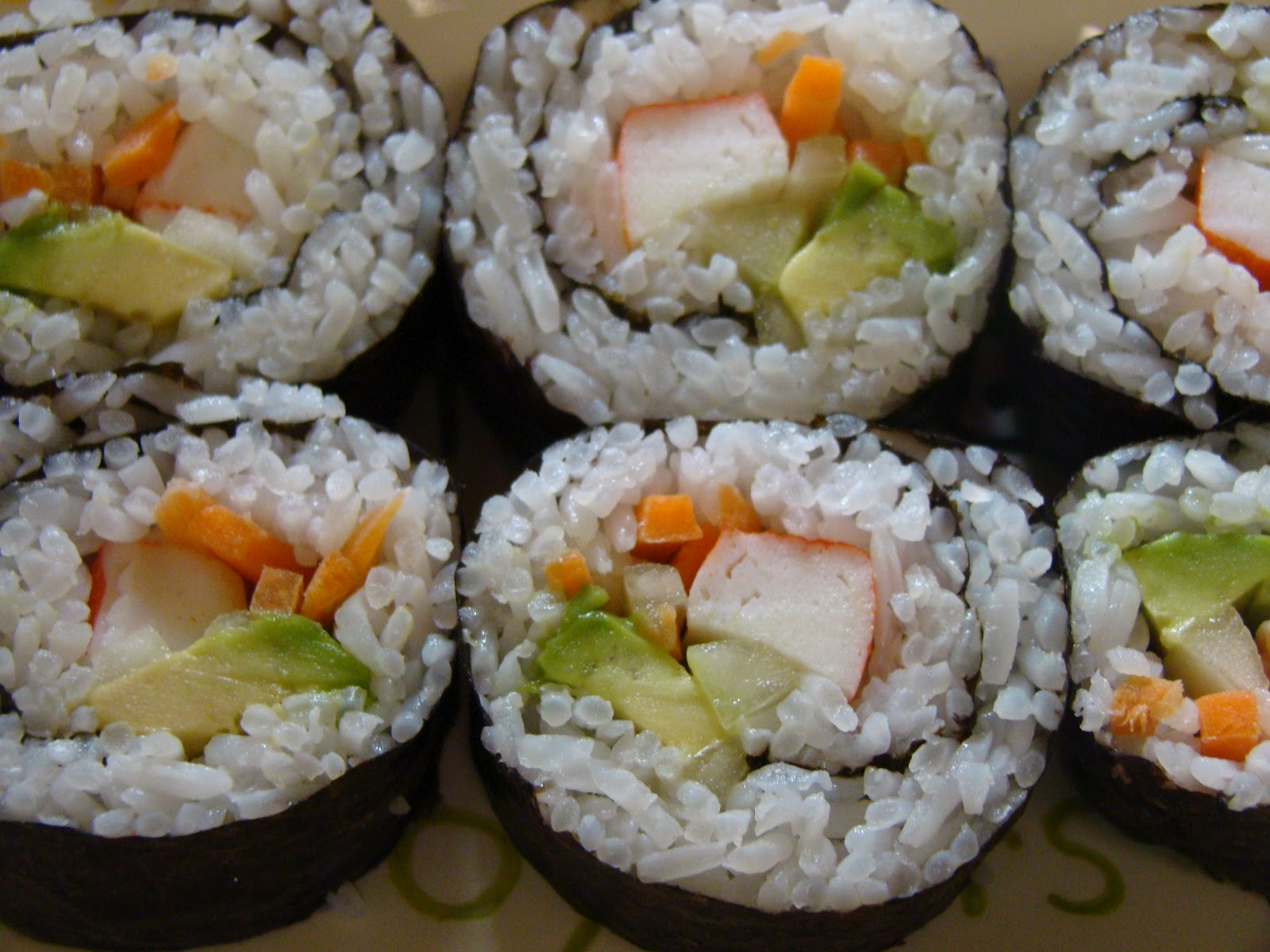 Alfajores and more!!!: Sushi: California Roll