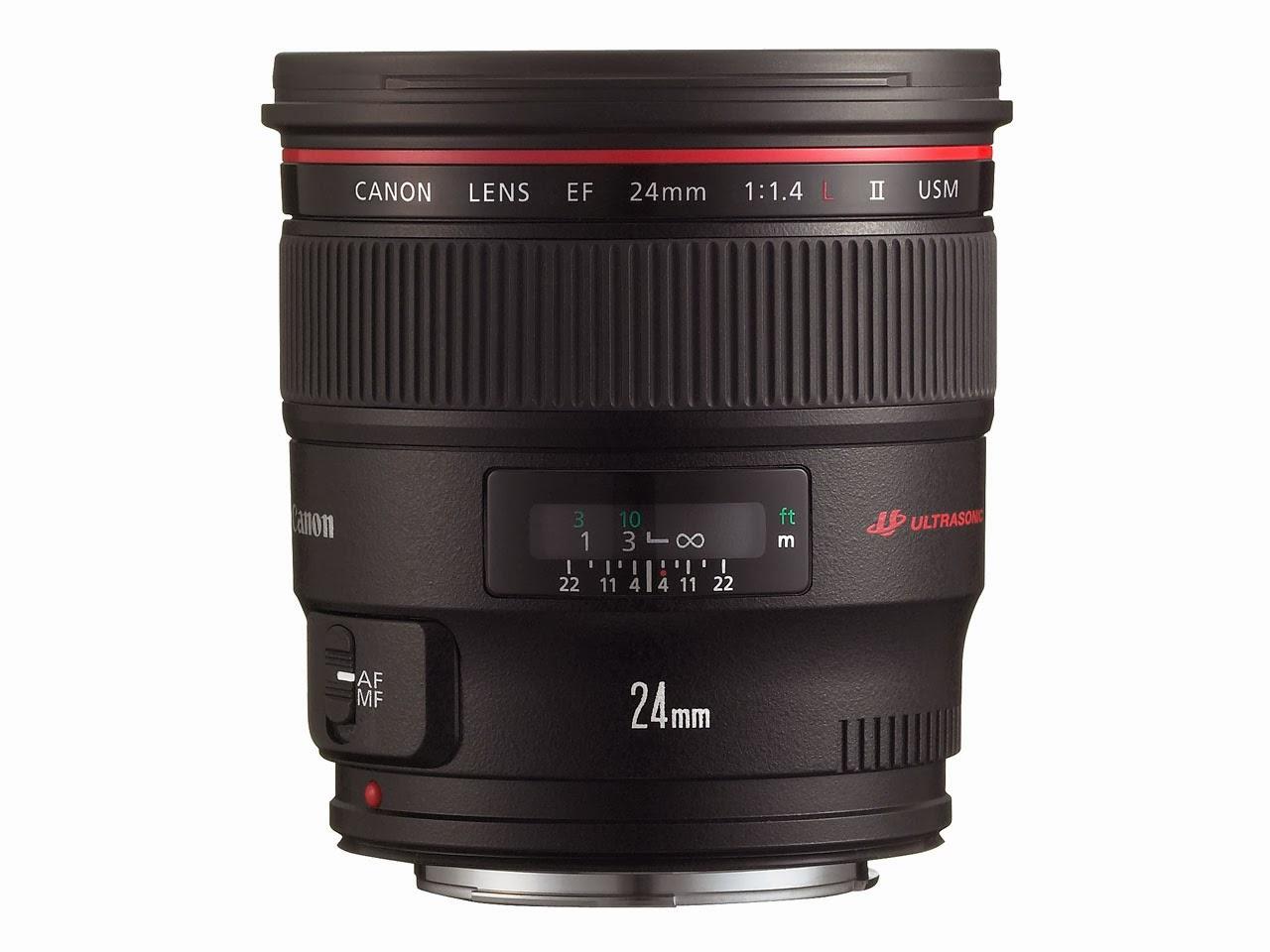 Harga Lensa Canon EF 24mm f/1.4L II USM, Canon L-Series