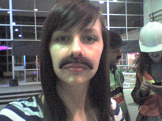 Girl with a mustache