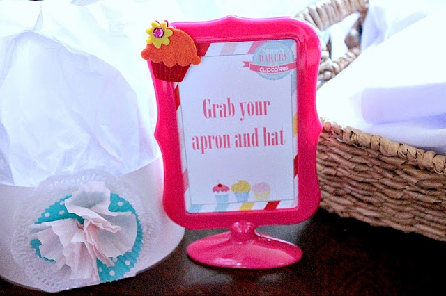 diy baker's hats, cupcake party ideas, cupcake party printables