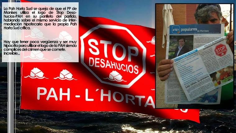 El Partido Popular, usa el logo stop desahucios.
