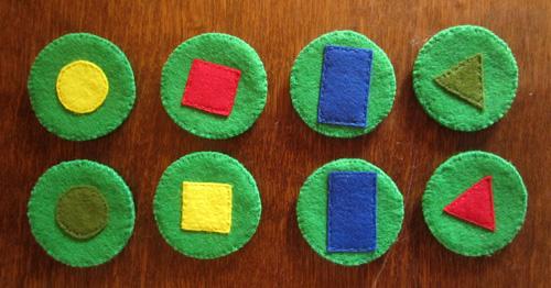 фетровый набор для изучения цветов и форм