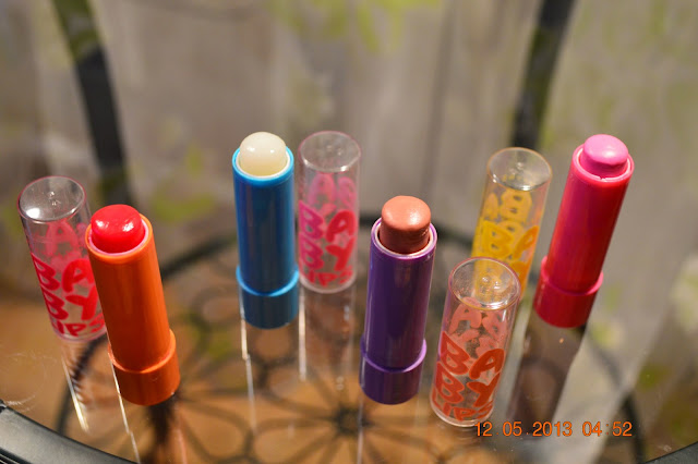 Maybelline Baby lips, Cherry Me, Peach Kiss, Pink Punch, Maybelline