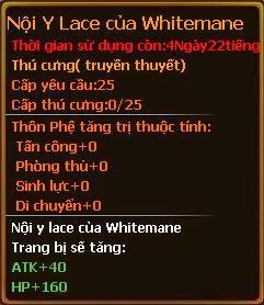 Chỉ số pet nội y lace của whitemane gunbao