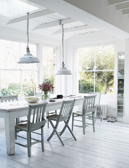 New Home Interior Design: White Cottages