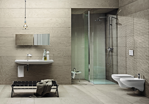 Rivestimenti bagno moderno tortora [tibonia.net]