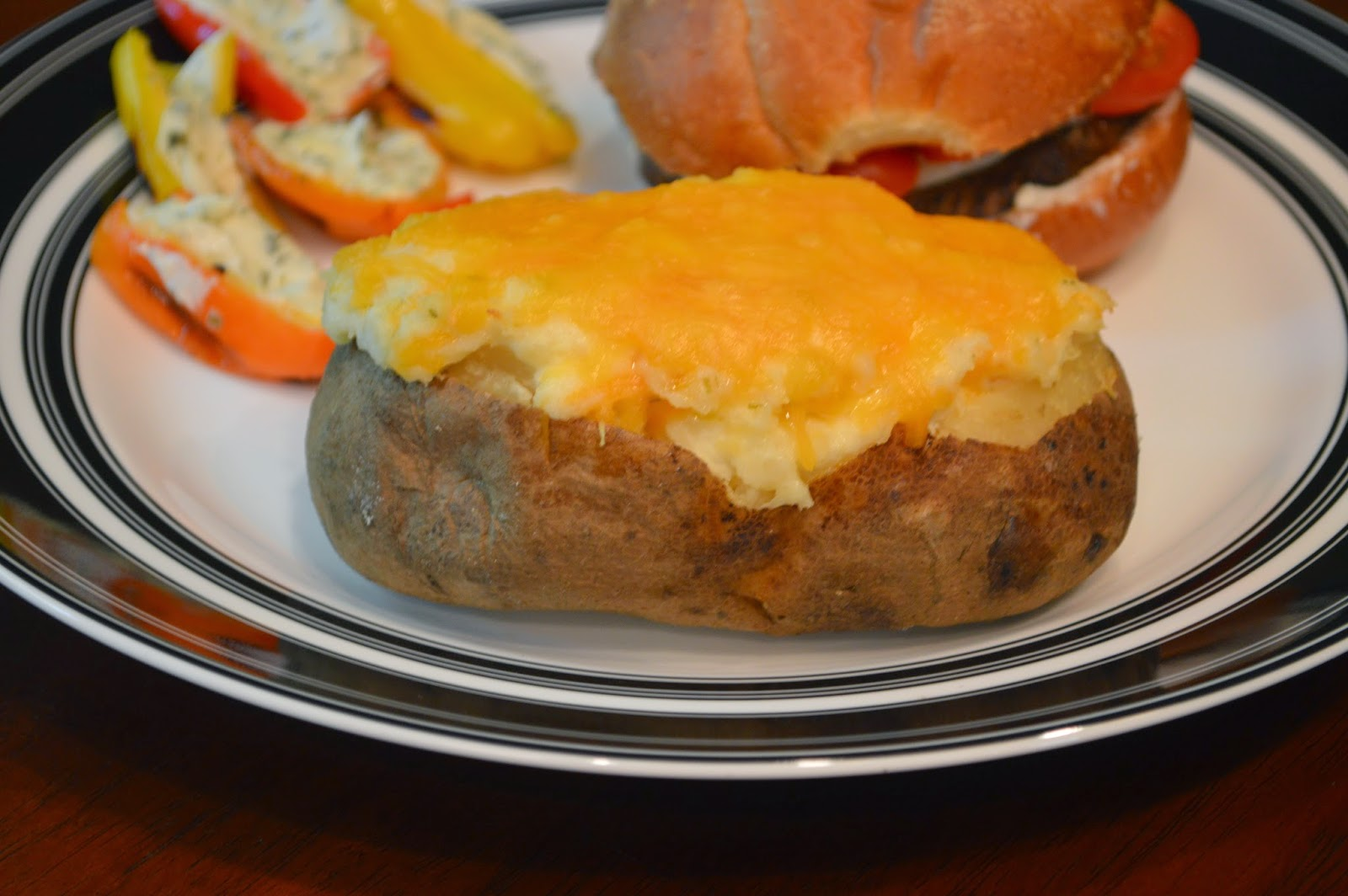 ... - From My Kitchen To Yours: Cheesy Overstuffed Twice Baked Potatoes