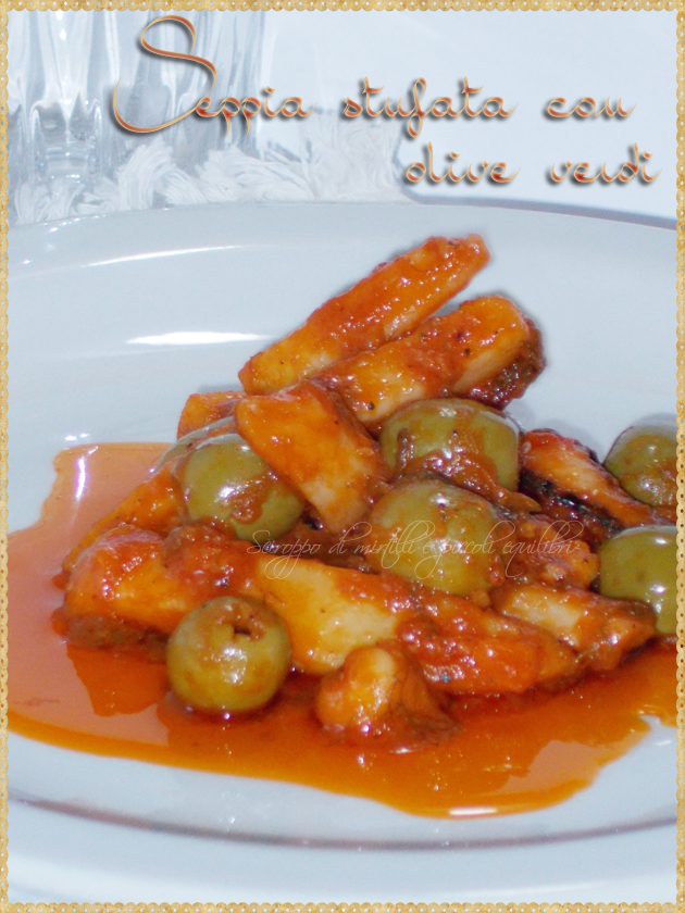 Seppia, finocchietto ed olive verdi