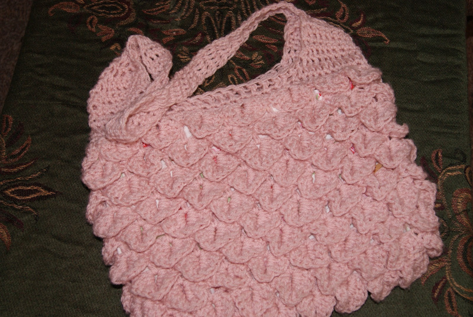 Reks Art Corner: Crochet Crocodile Stitch Bag