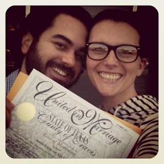 picking up our texas marriage license
