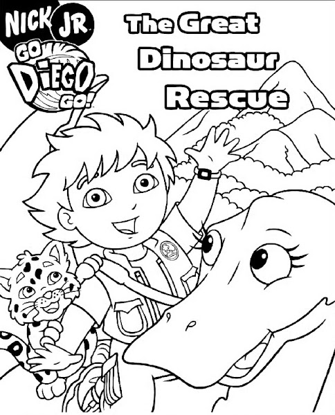 FUN & LEARN : Free worksheets for kid: Go Diego Go Coloring Pages
