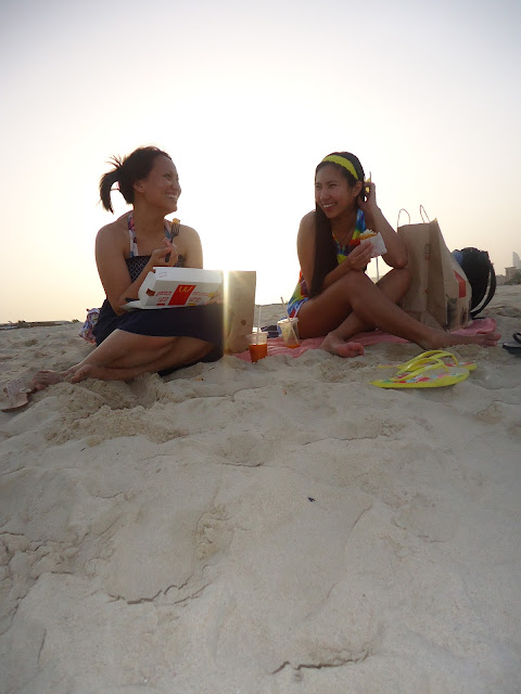 Unwinding at Jumeriah Open Beach