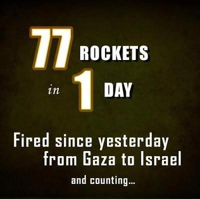 77 רקטות ביום אחד