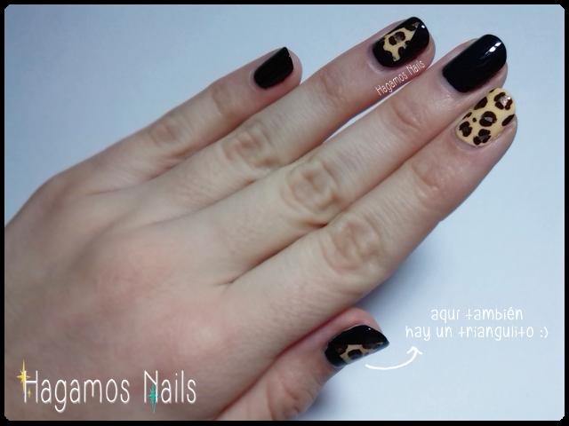 Triángulos Leopardo. Hagamos Nails