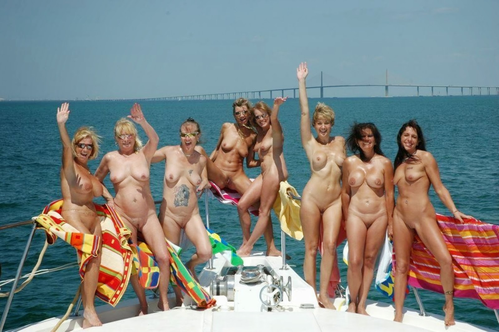 Nude girls sex on boat pity, that
