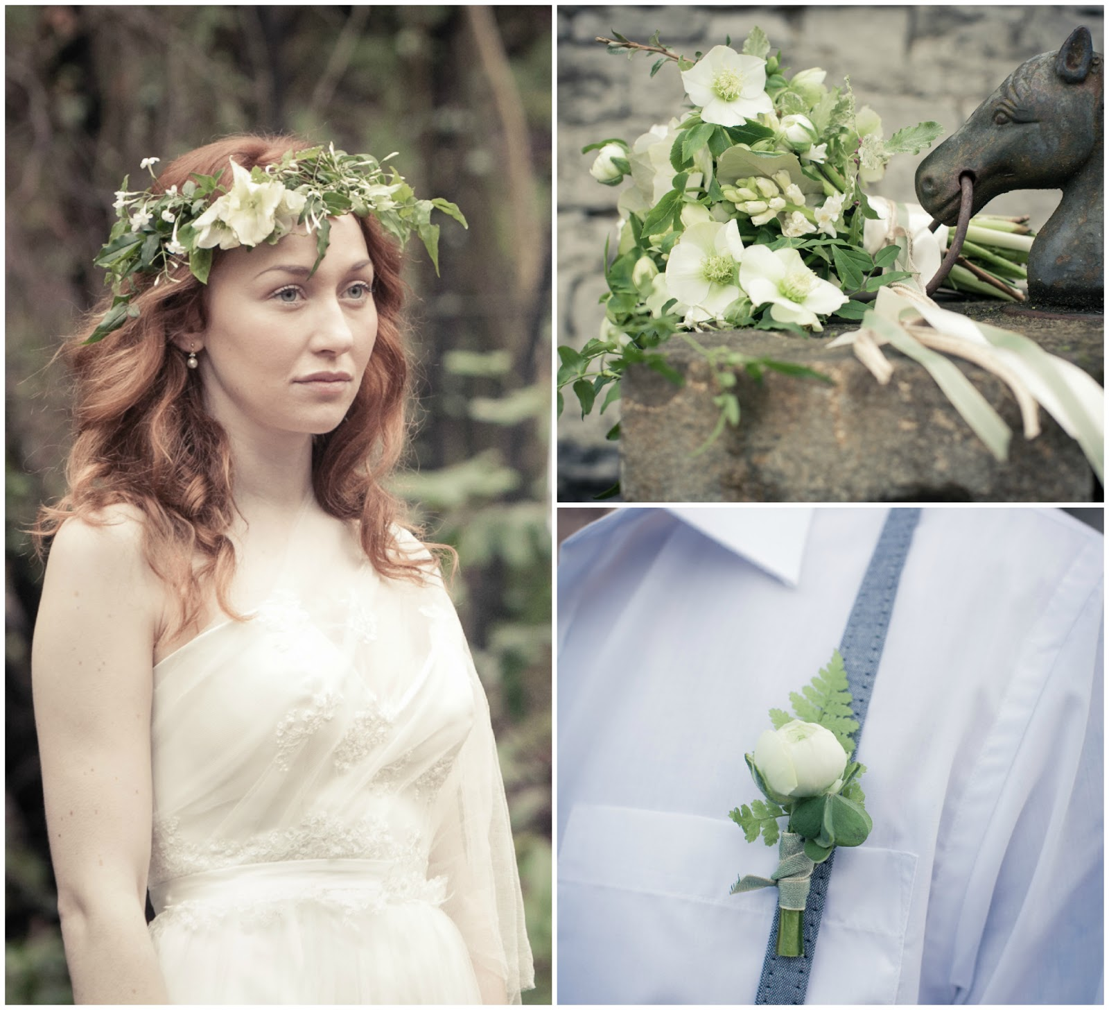 Be Bespoke Bridal Headpieces Ireland - I had already met claire from the informal florist and her business name sums up my favourite kind of flowers ones that look like they ve just been