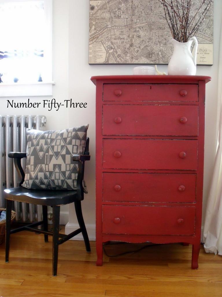 100 red dresser chest home decor blog 3aannie sloan primer