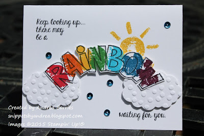 Card made with Over the Rainbow stamp set.