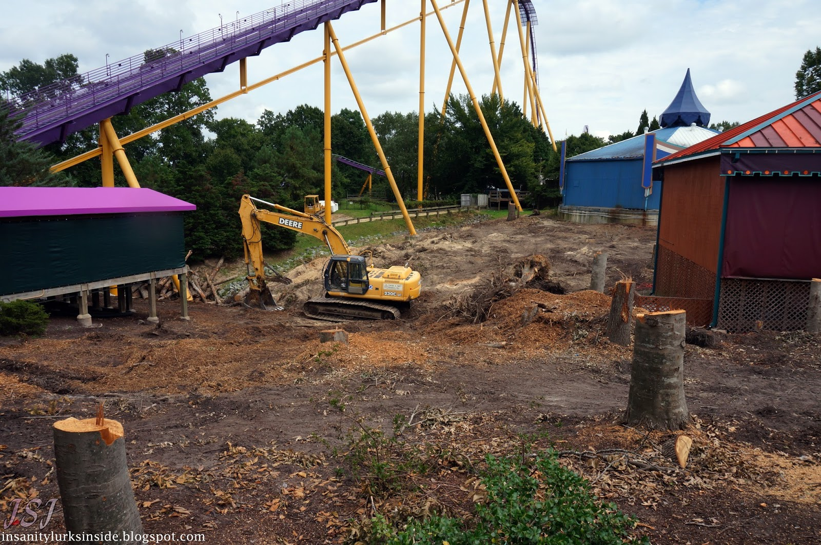 InSanity lurks Inside: Busch Gardens Williamsburg- New Coaster Track ...