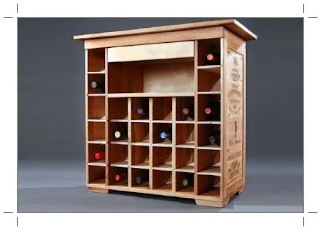 Amoblamientos y productos andrea w ffman botelleros for Mueble vinos