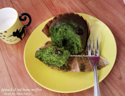 Resep Sehat muffin bayam Spinach And Red Beans Muffins