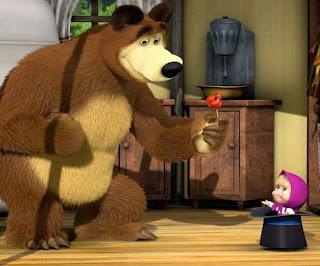 Gambar Animasi Masha and The Bear Lucu Animation Gif