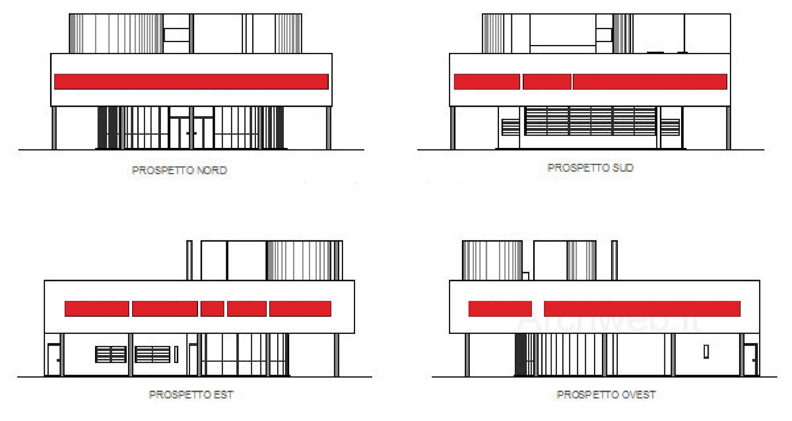 The Gallery For Gt Villa Savoye Elevations