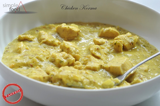 Chicken Korma ~ Simple Food