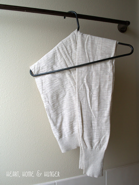 how to fold sweater on hanger no bumps