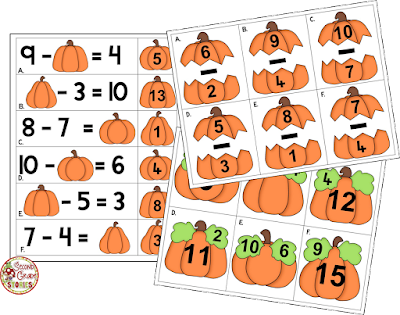 https://www.teacherspayteachers.com/Product/Pumpkin-Math-Addition-and-Subtraction-955717
