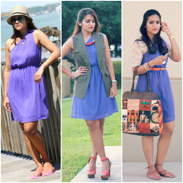 Three Ways To Wear One Shoulder Dress, Tanvii.com