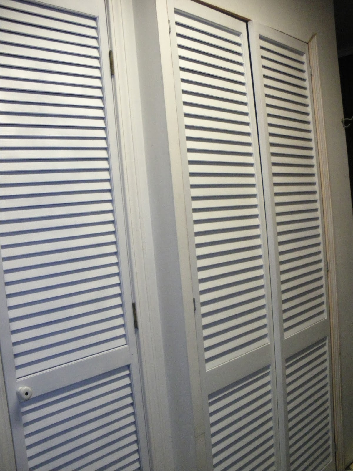 1600 #51586D Room Looked Like With The Unpainted Doors And What It Looks  Like Now Louvered Door Panels 3315120033151600