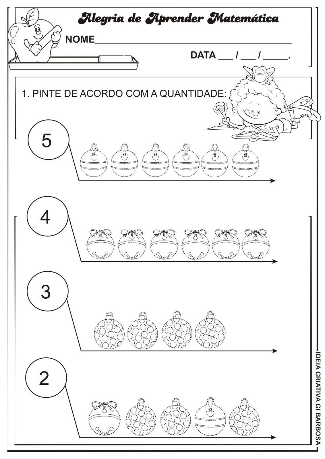 Well-known Atividade Matemática Educação Infantil Bolinhas e enfeites de  AB76