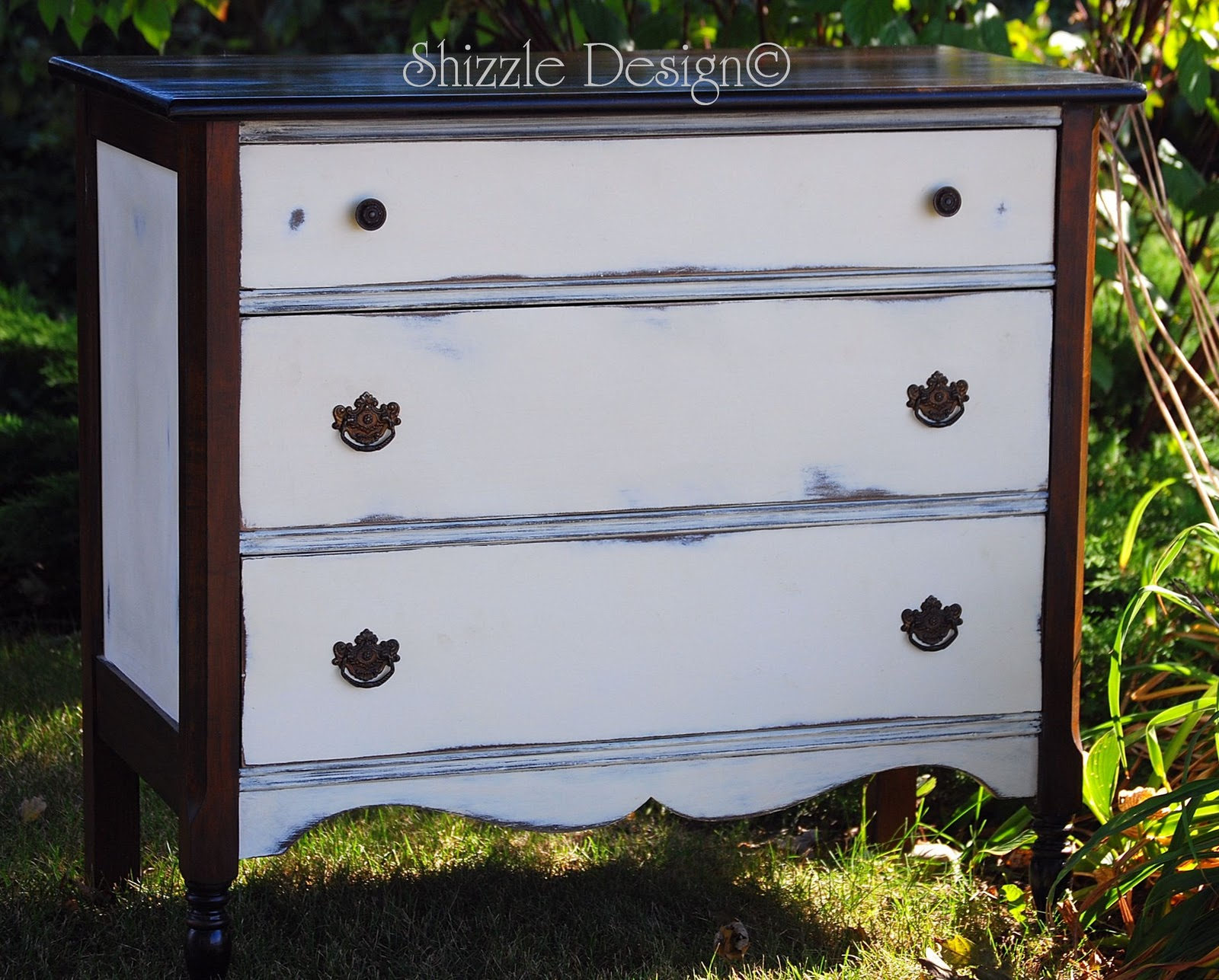 Shizzle Design | Petite Antique Dresser Painted In Annie Sloanu0027s Old White Chalk  Paint