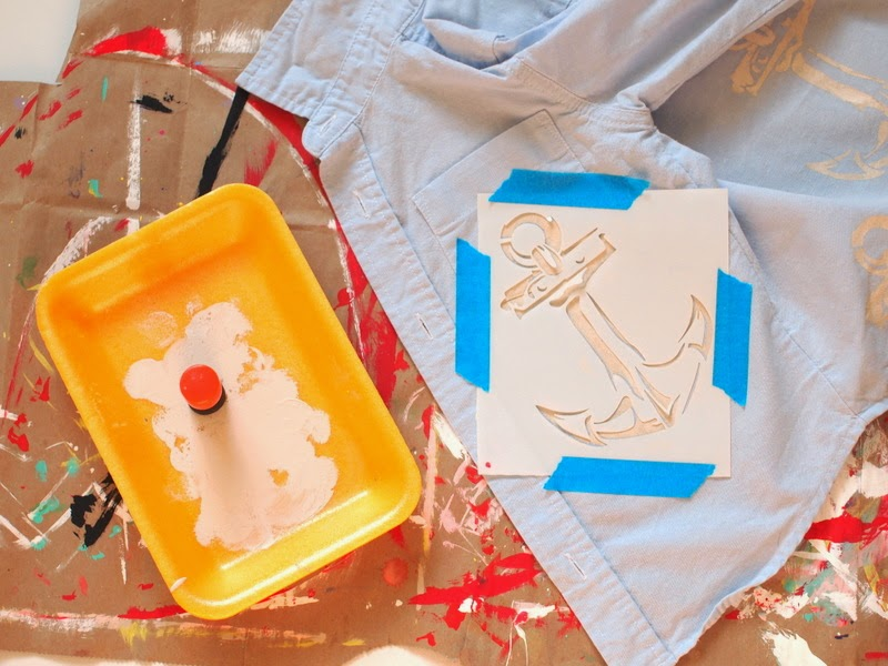 tape down your stencil to help give you clean paint application