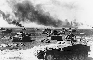 German tanks during the Soviet Union invasion , 1941