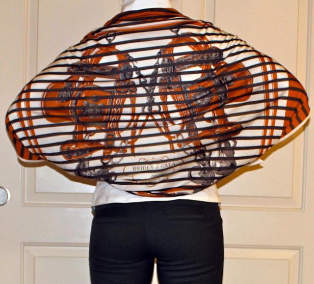 Hermes 90cm Brides de Gala jersey scarf as cape