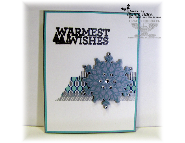 Crafty Colonel  Donna Nuce for CASE-ing Christmas, Stampin'Up Christmas Bliss and Festive Flurry